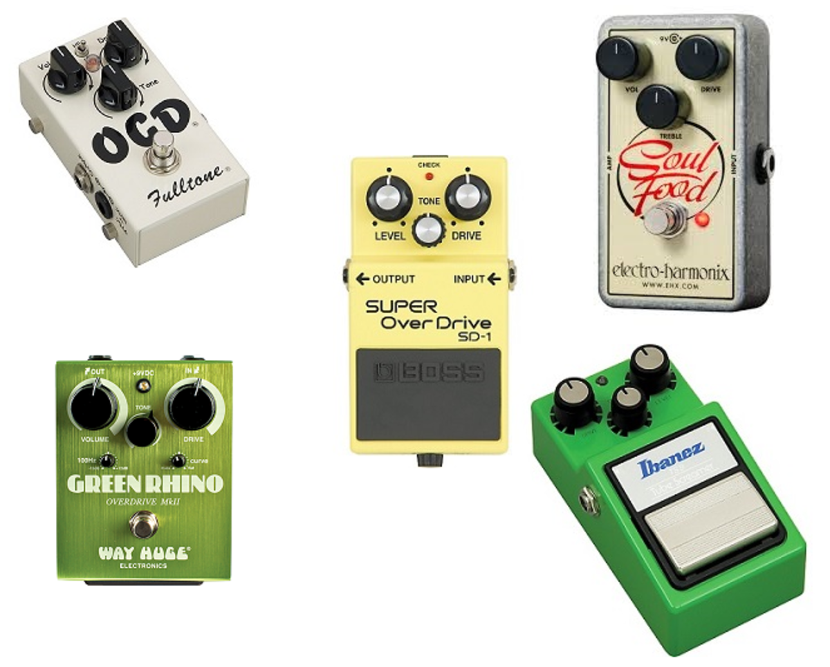 Top 5 most popular overdrive pedals