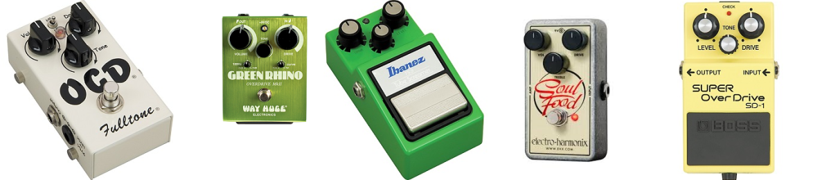 Top five best overdrive pedals in the market today