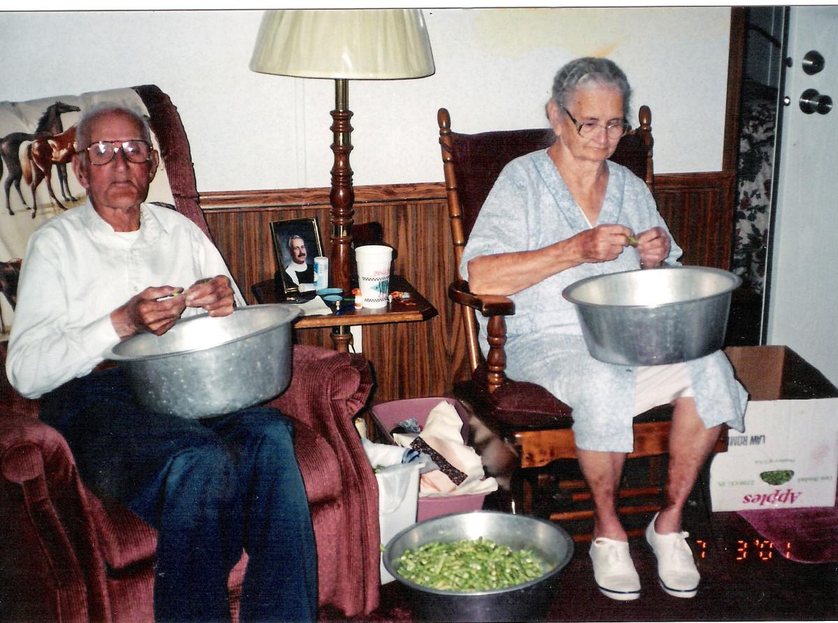 My maternal grandparents inside their Clinton County, Kentucky home.