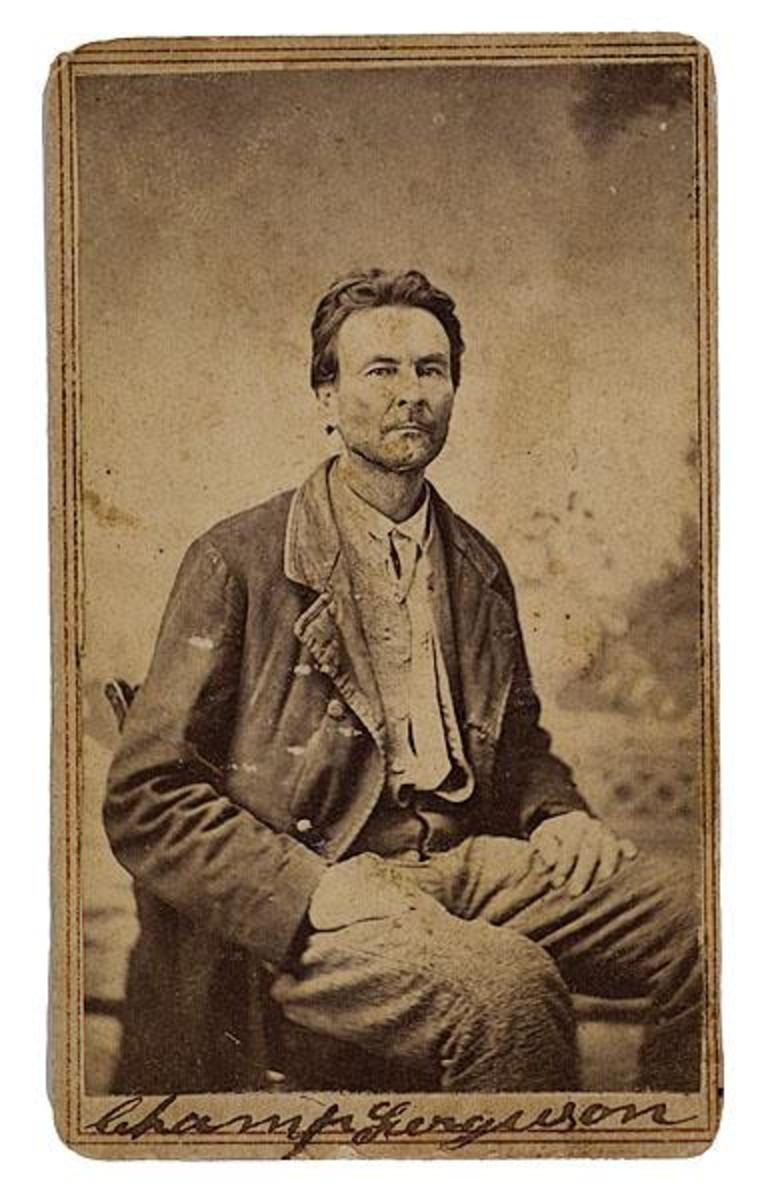 Champ Ferguson after capture in 1865.