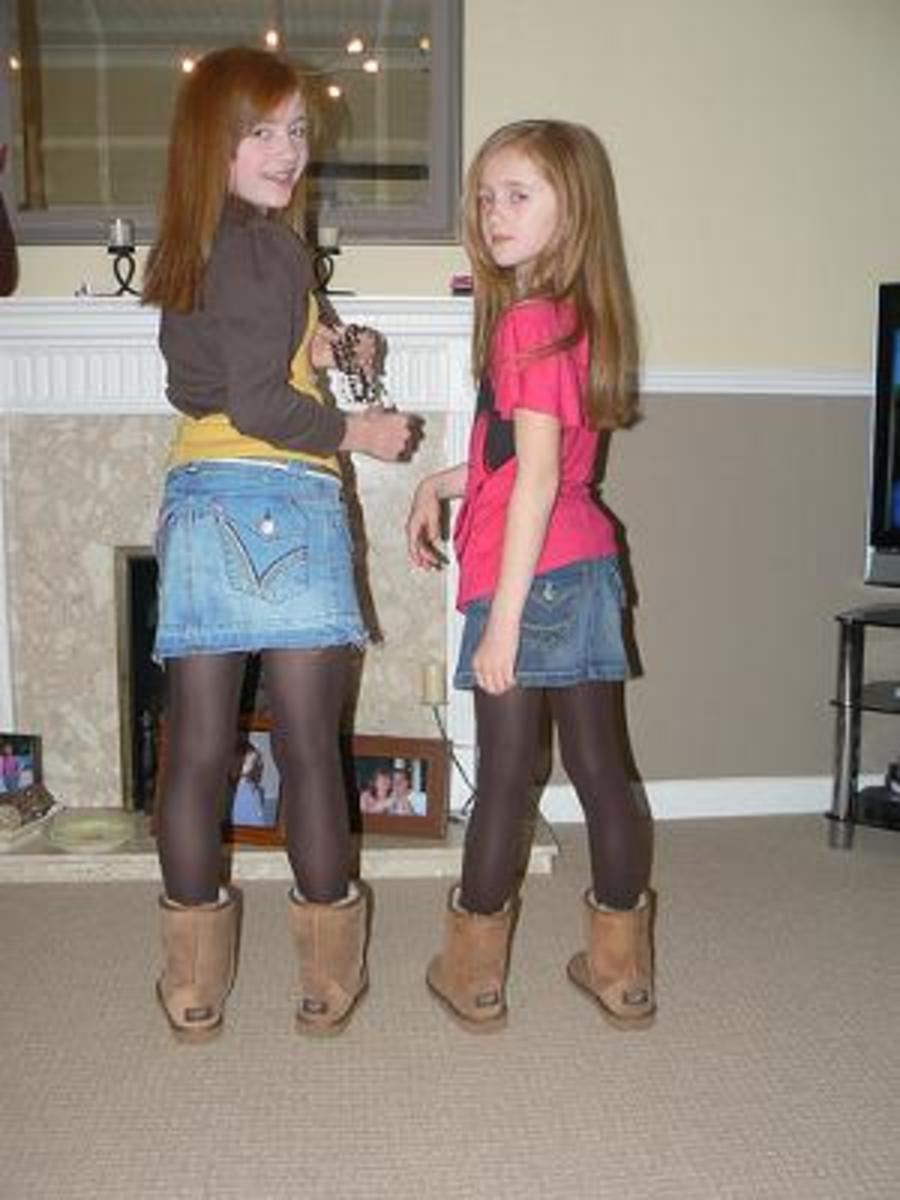 two little girls both wearing Uggs