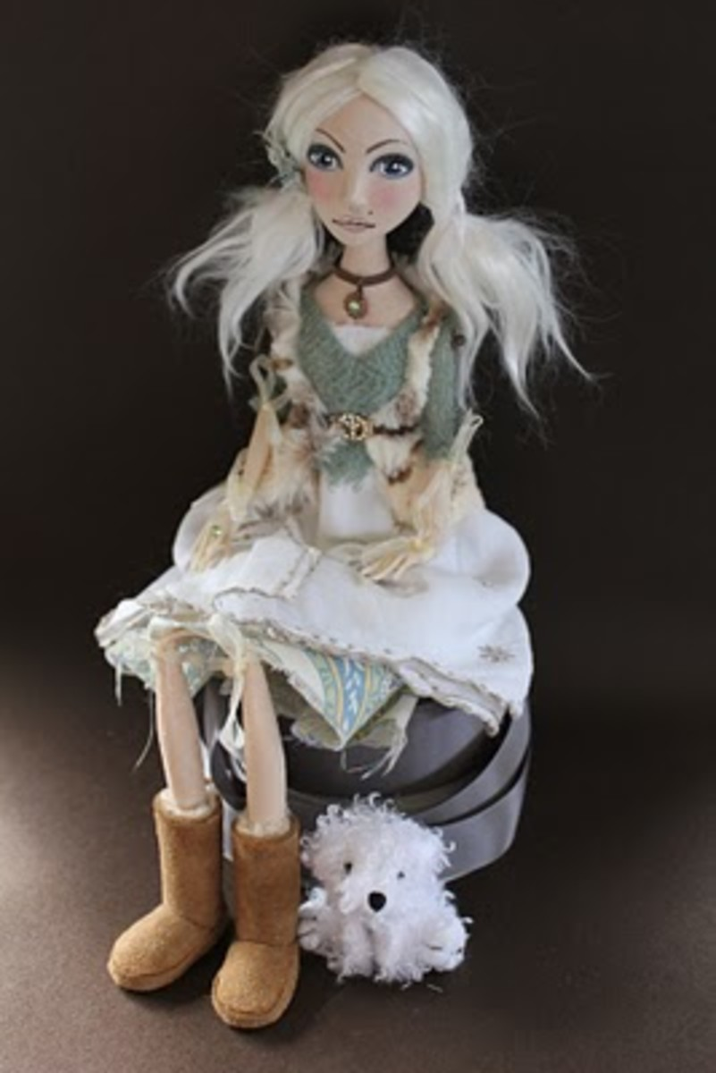 doll wearing Uggs