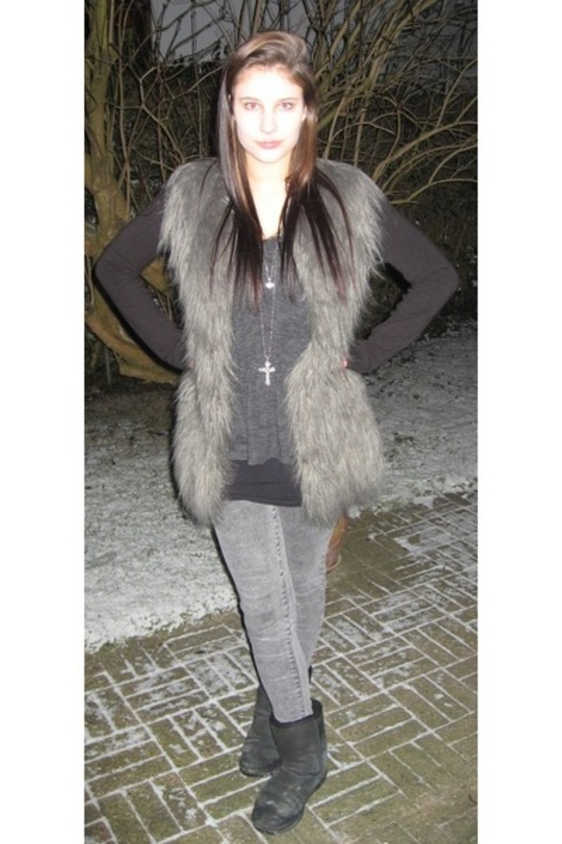 Uggs with fur vest