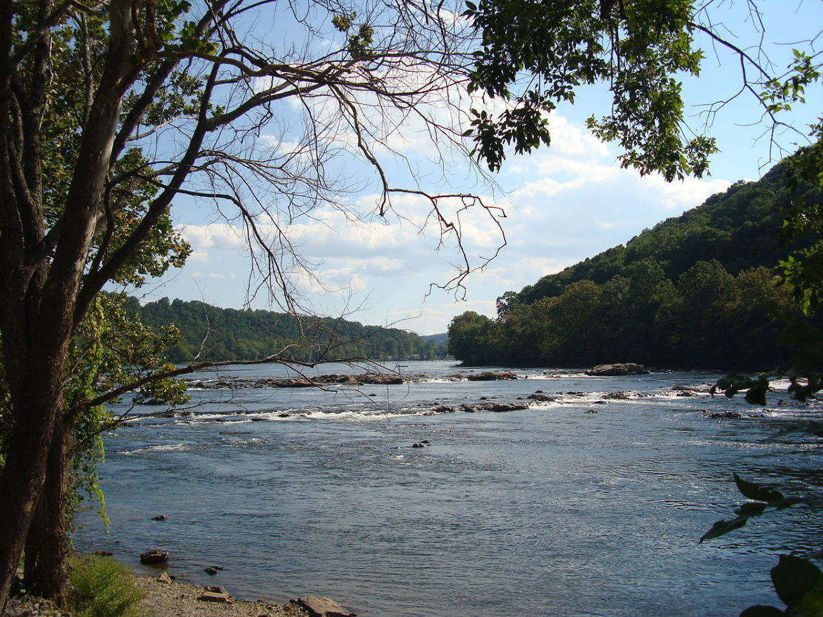 New River in Montgomery County, Virginia.