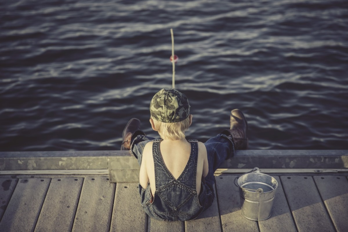 Boy fishing: Image by Lorri Lang from Pixabay