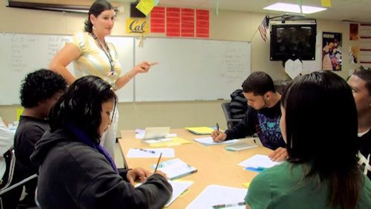 Lecturing to a smaller group of students can be easier as well as enjoyable.