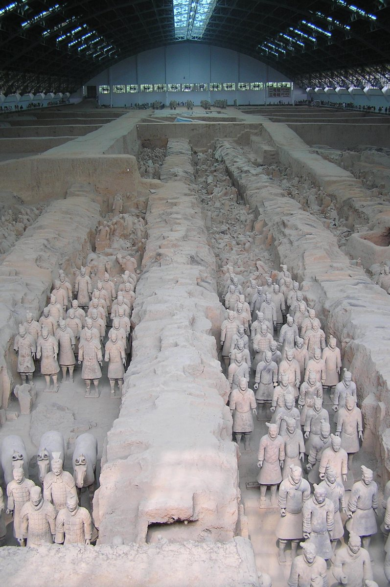 Terracotta Army Soldiers at Xian Terracotta Warriors Museum