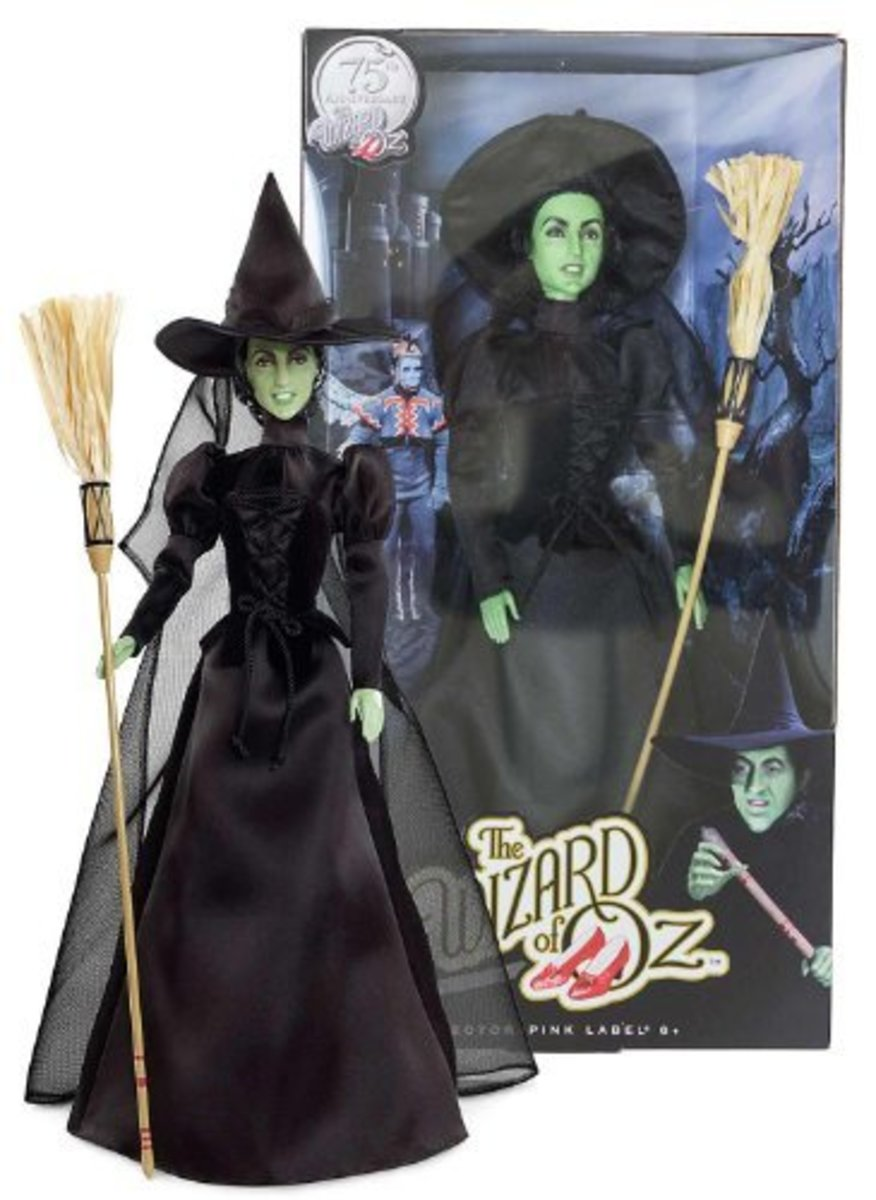 Wizard of Oz Characters Barbie Collector Wicked Witch of the West Doll