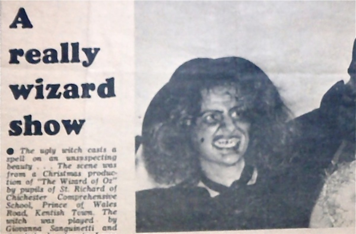 Here I am all those years ago! It's a newspaper clipping. My face was green!