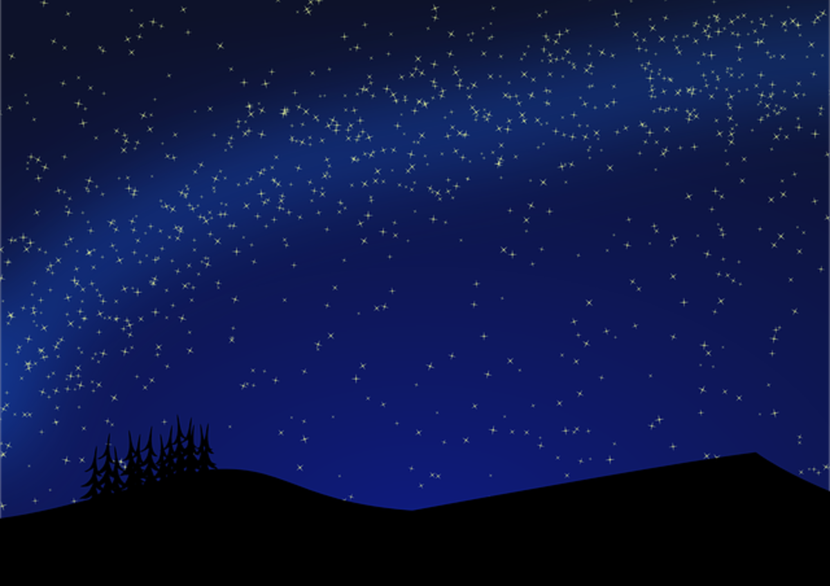 Solstice Night-- all is calm, all is bright.