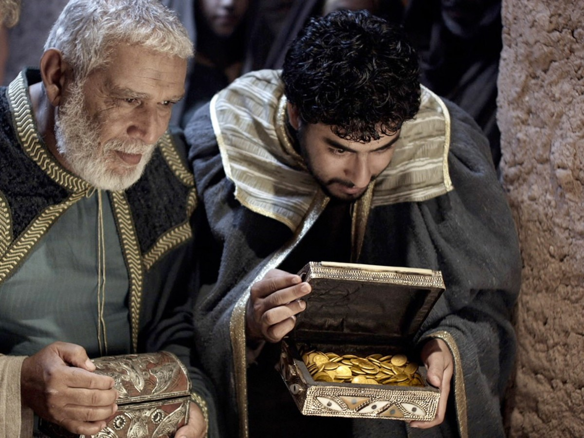 Then they opened their treasures and presented him with gifts of gold and of incense and of myrrh.