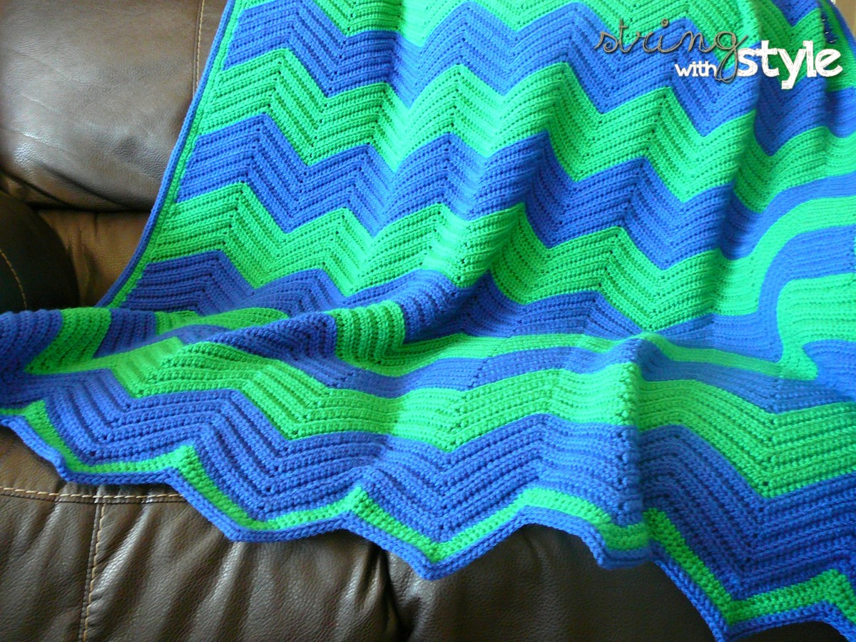 Chevron Love Afghan