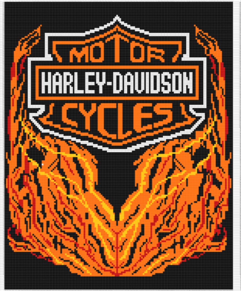 Harley Davidson Afghan Chart