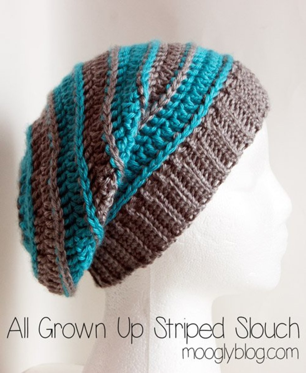 All Grown Up Striped Slouch Hat