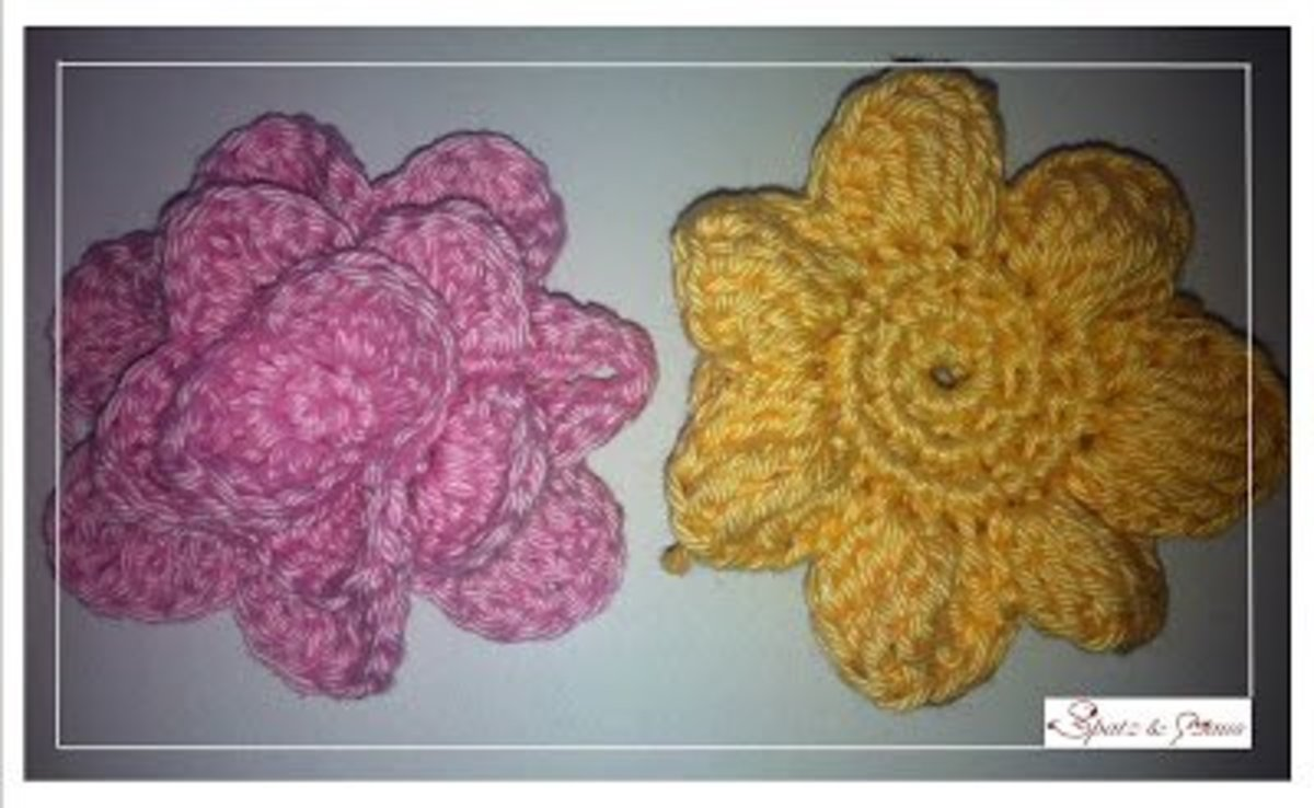 Crocheted Rose Without Sewing