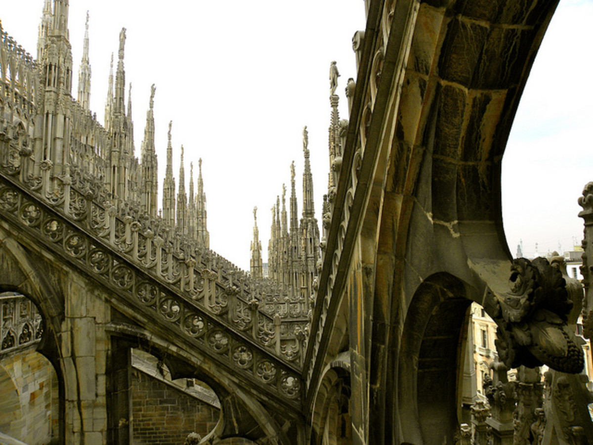 The Gothic carvings of the Duomo