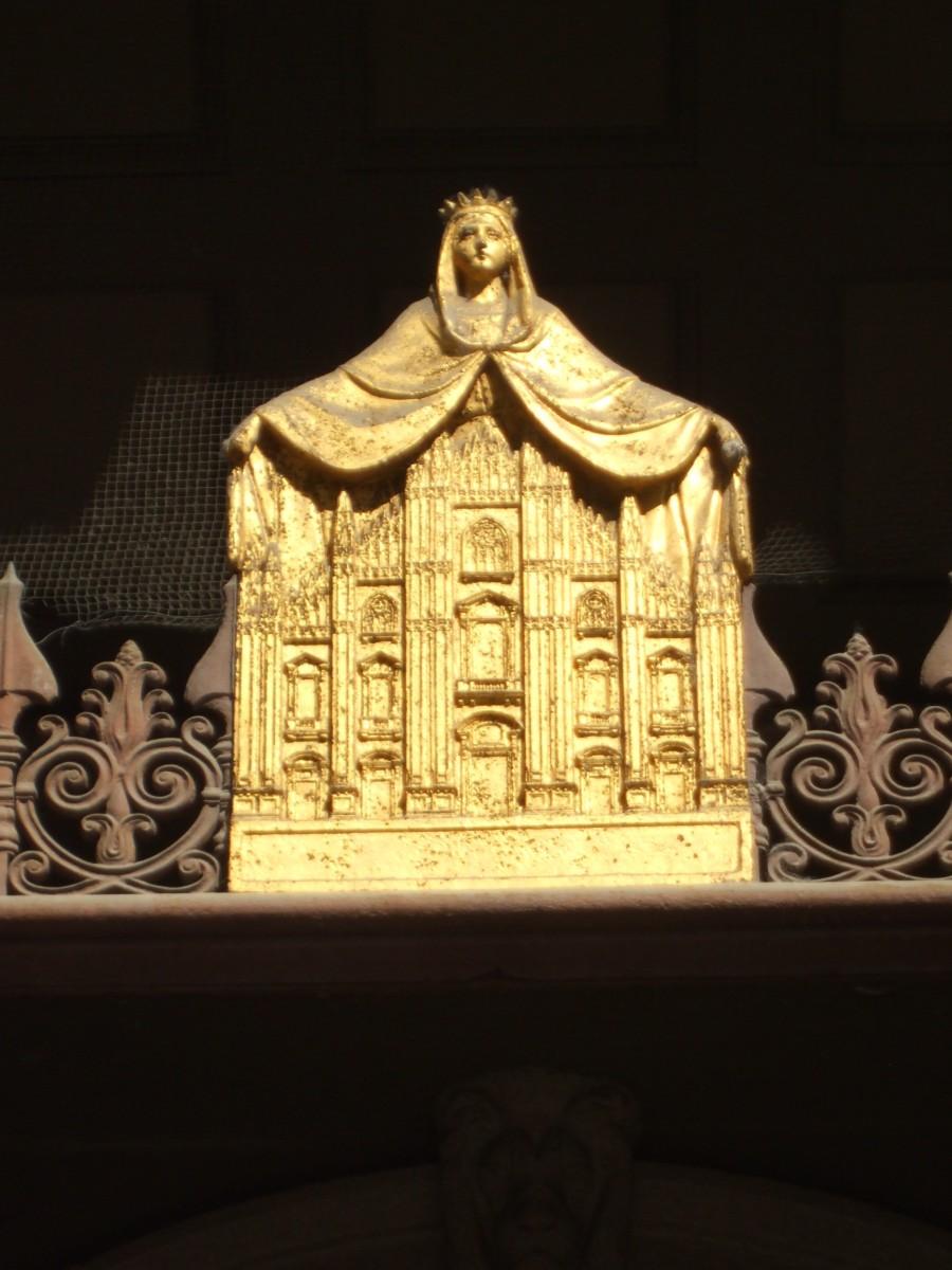 Emblem on the church gates