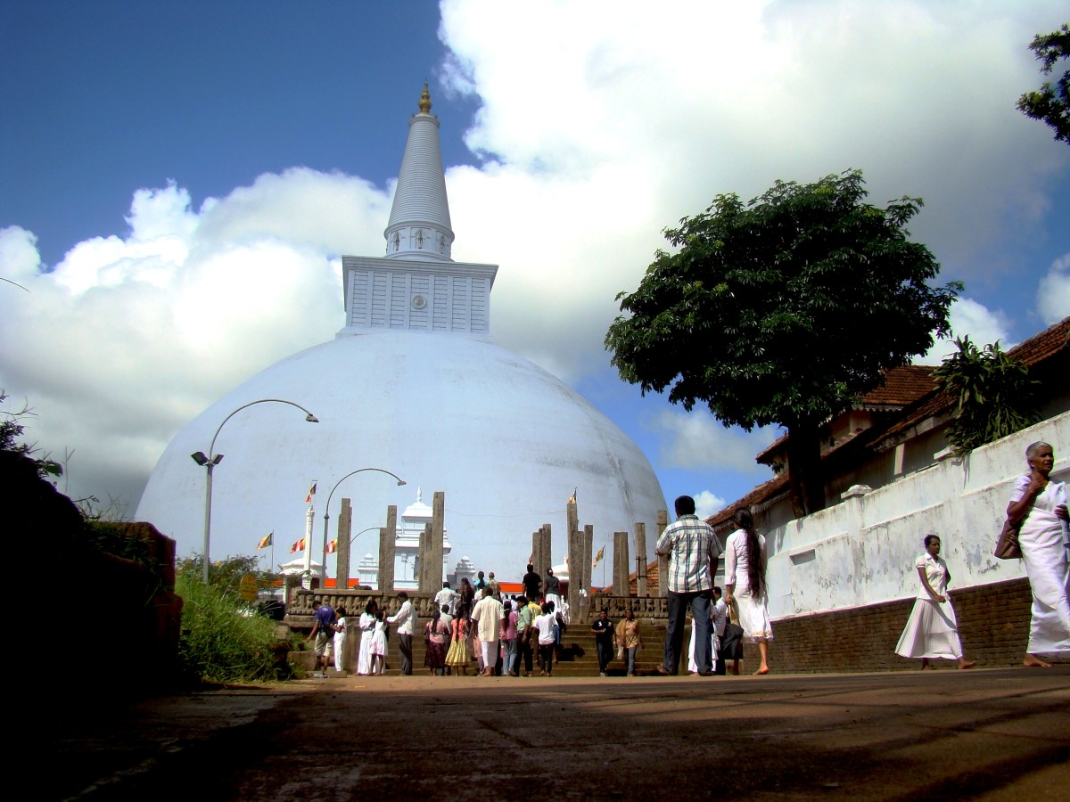 Massive structures, known as Stupa, built enshrining the relics of The Buddha. Worshiped by millions if deities annually.