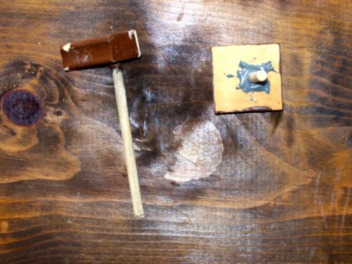 Dowel epoxied in drill holes -