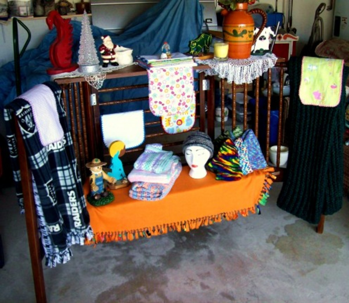 The final product and sample display for a craft fair