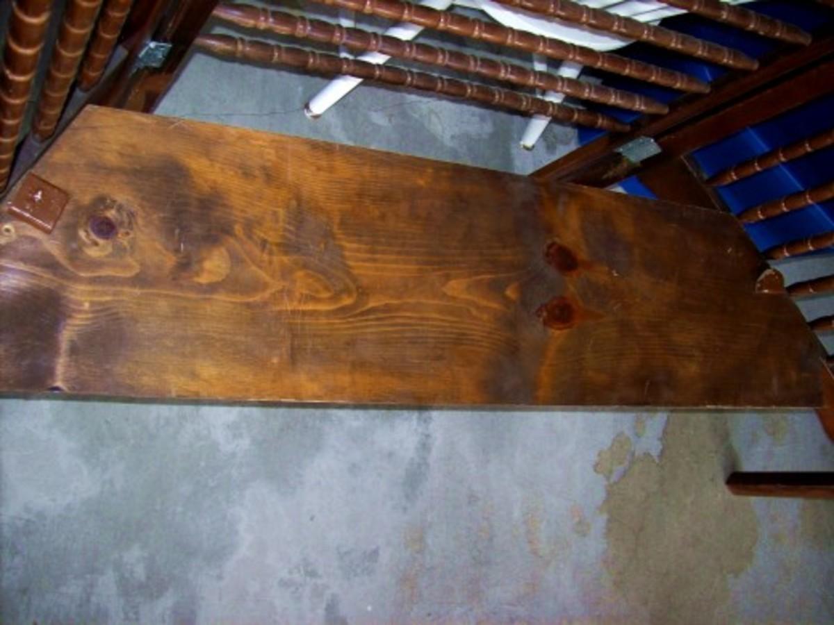 Bottom shelf cut to fit -