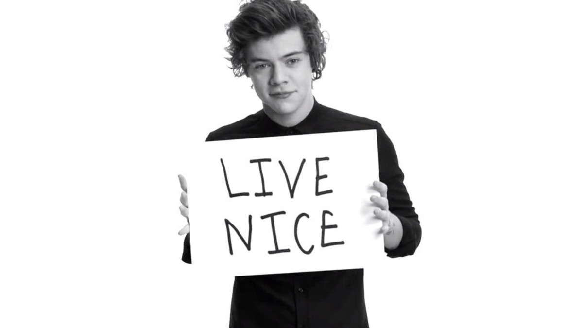 One Direction member Harry Styles against bullying