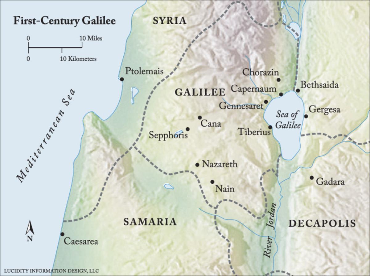 Map of 1st Century Galilee
