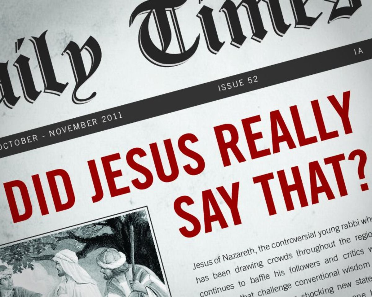 Will the Real Jesus Please Stand up: A Look at the Criteria That Determines Authenticity of Gospel Texts, Part I