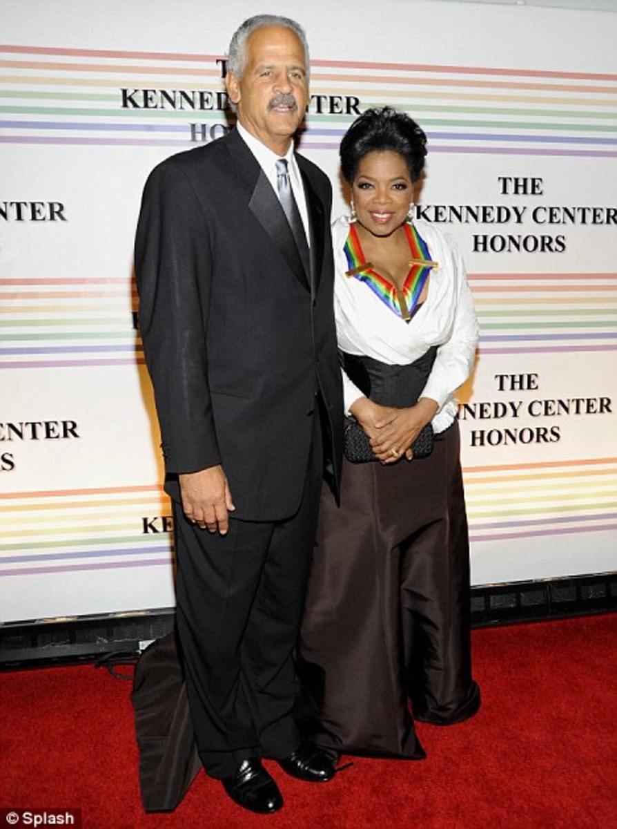 Oprah and Stedman, her partner for thirty years