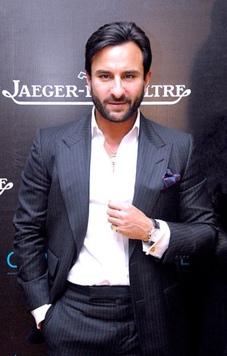 Saif Ali Khan snapped at Imperial Hotel, New Delhi, 16 July 2012 (CC BY 3.0).