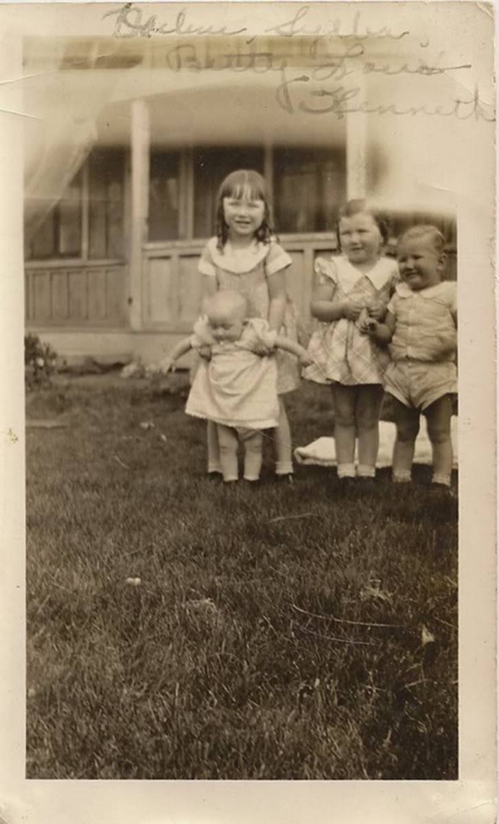 My mother, Betty Lou Clement, middle.