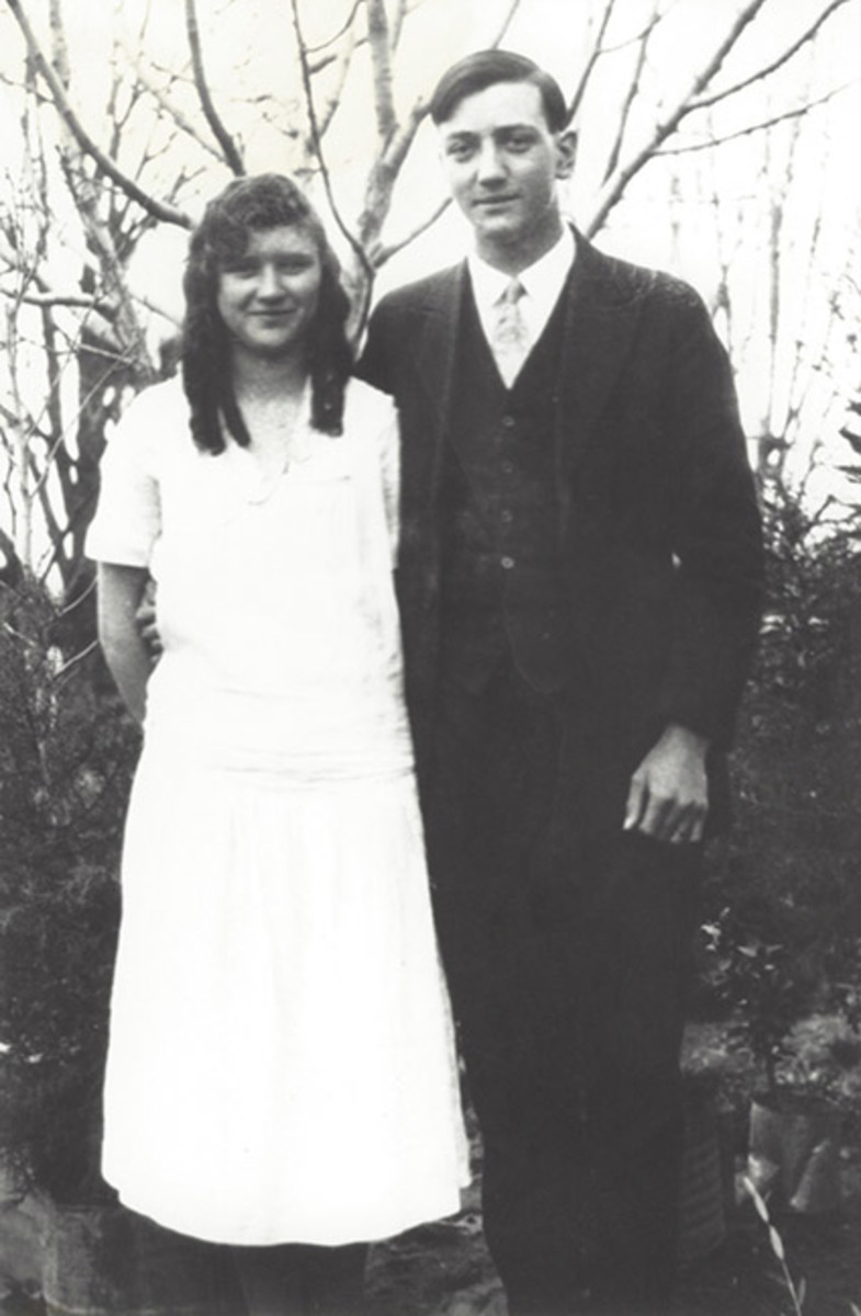 "Photo reference: My grandparents just after they married. Frances ""Frankie"" Elizabeth Bollinger and Walter Philemon Clement, 1929. My grandfather said he fell in love with my grandmother's ""heavenly curls,"" probably similar to the ones the chief want"