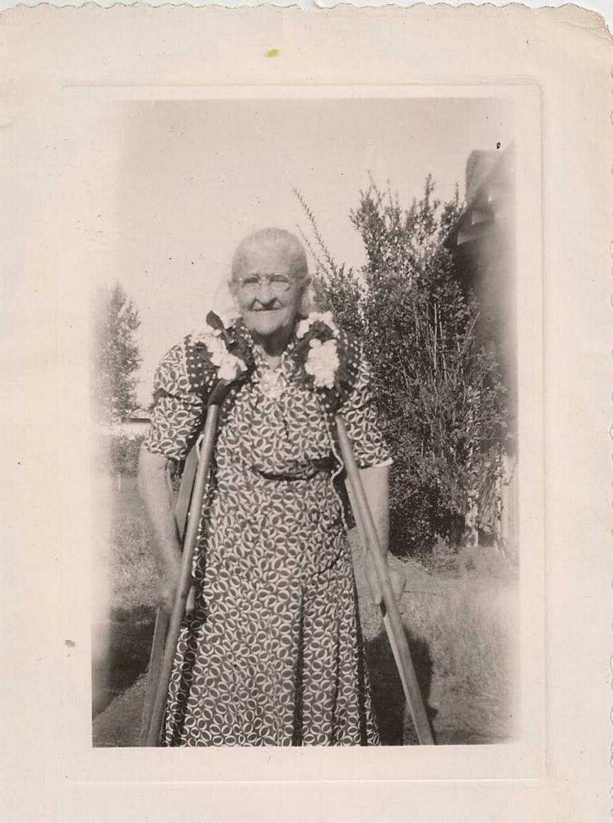 Photo Reference: Francis Quintilla Bollinger on her birthday, October 1946, at the age of 90.