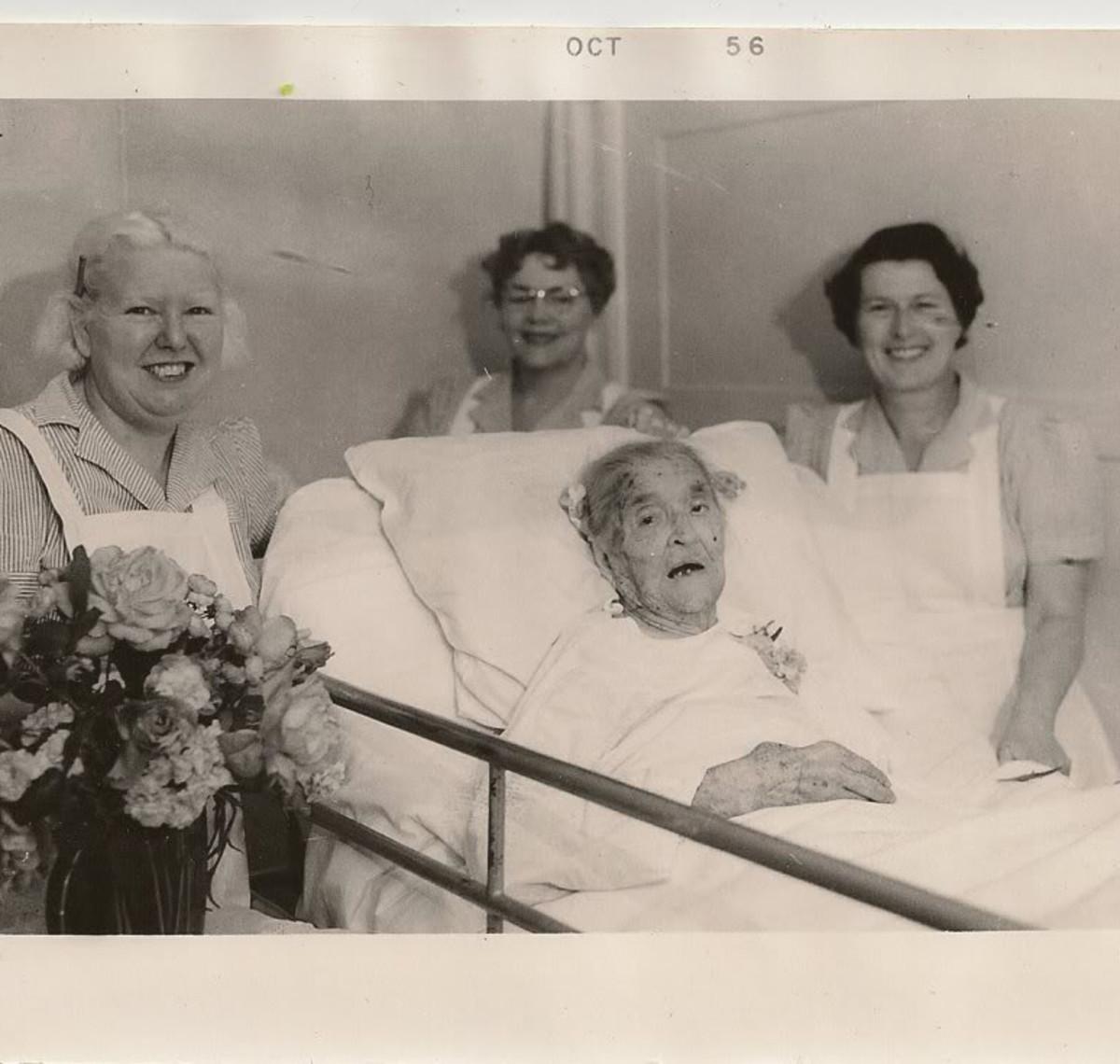 Francis Quintilla Bollinger on her 100th birthday.