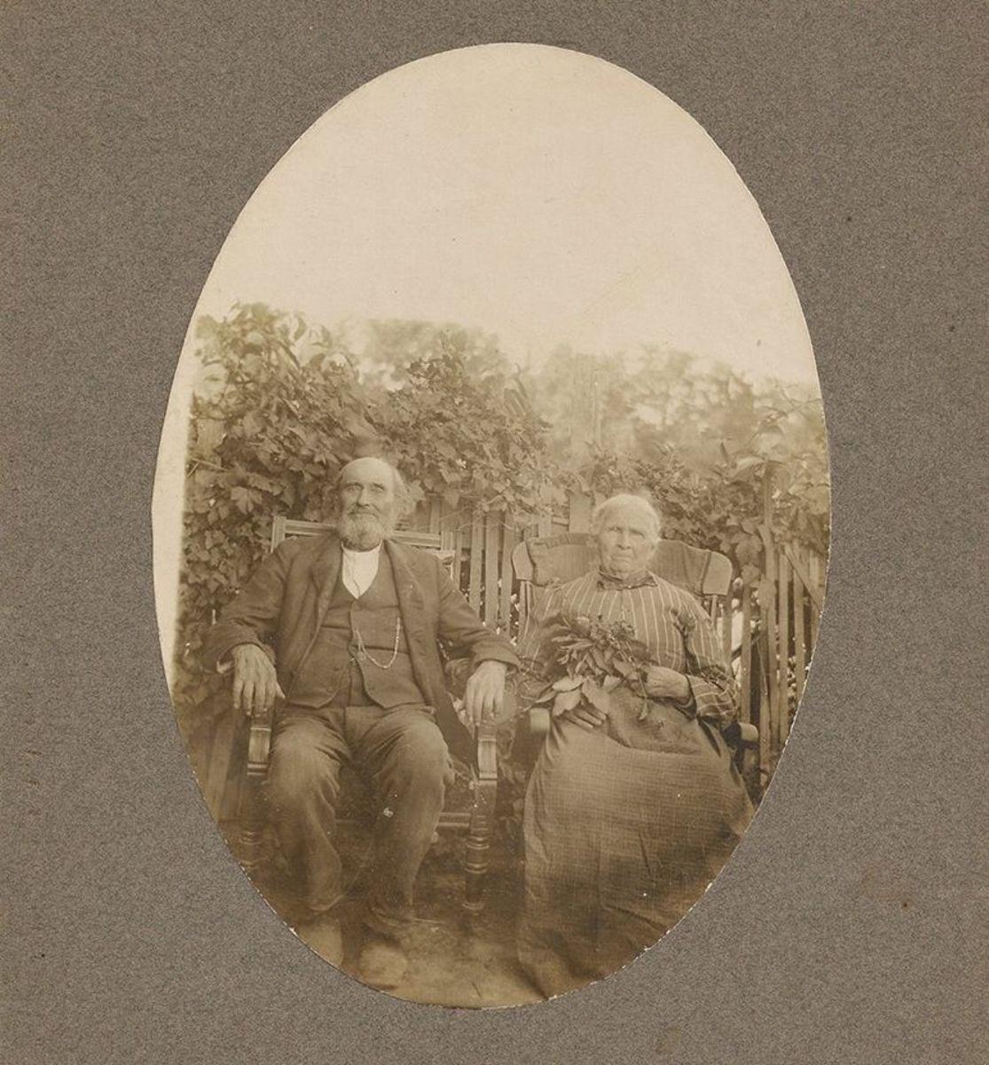 John and Mary Magdalena Bollinger at home in San Jose, California.