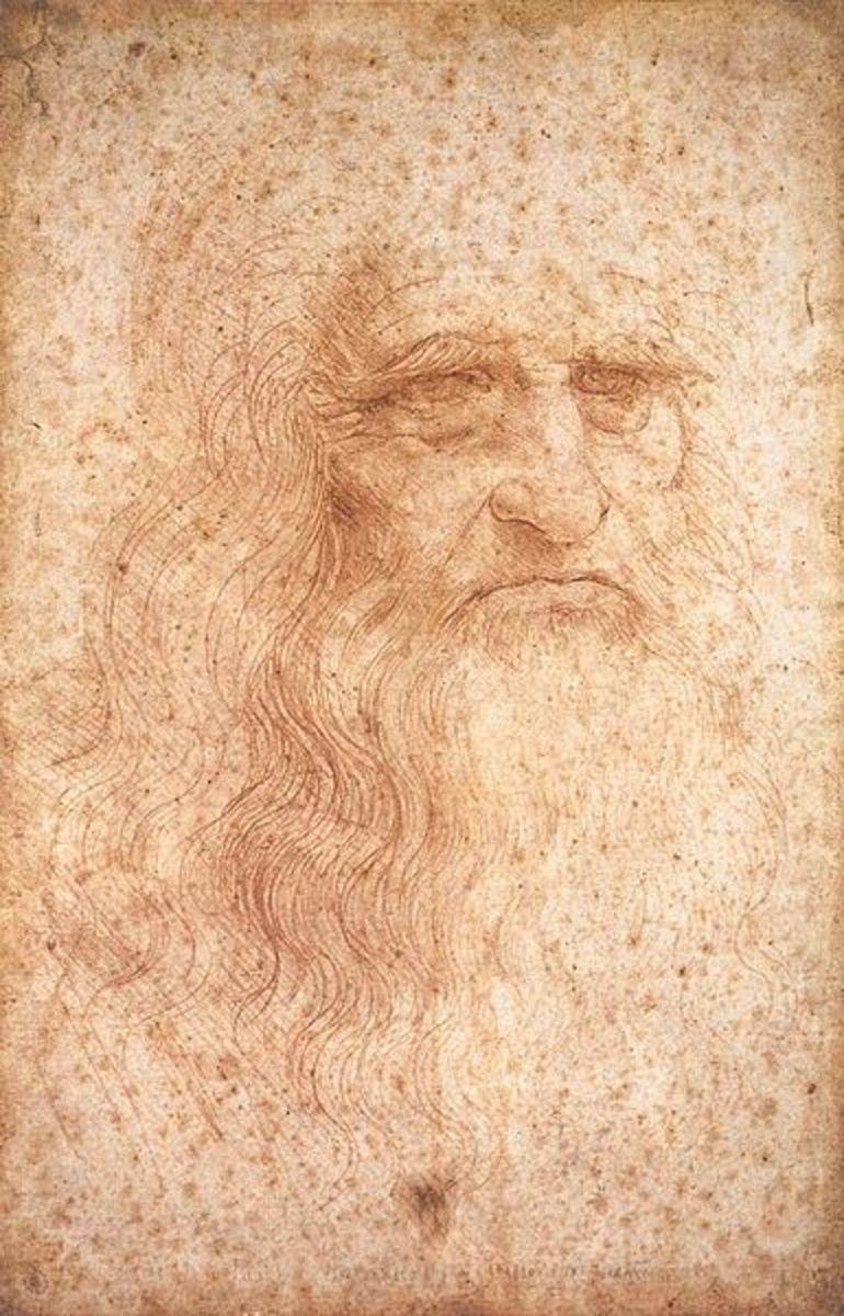 Leonardo da Vinci, a self-portrait.
