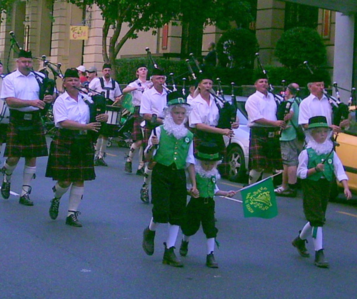 Celebrating St. Patrick's Day in Brisbane, Australia.