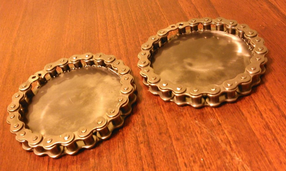 motorcycle chain coasters