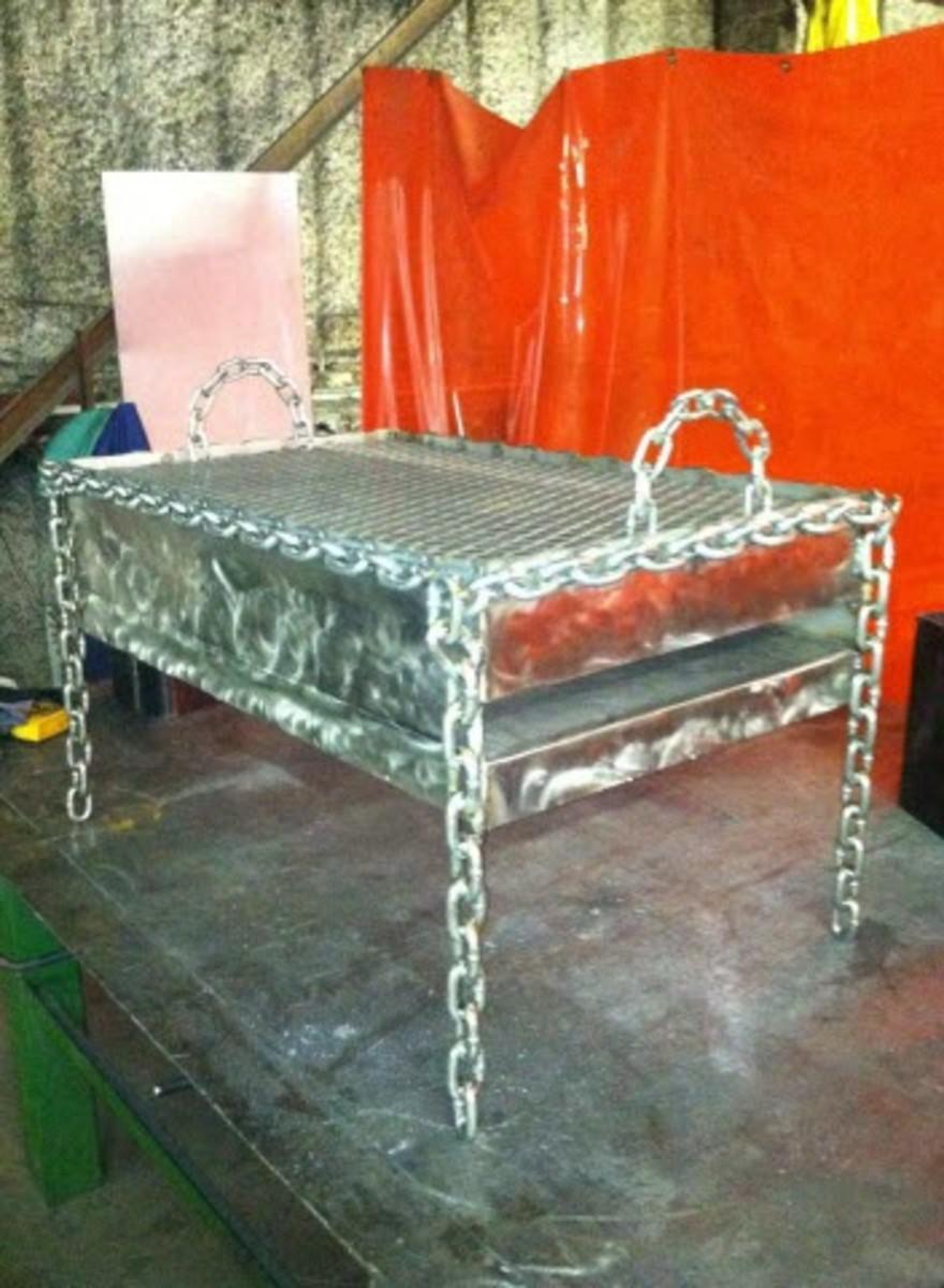 steel chain link custom grill