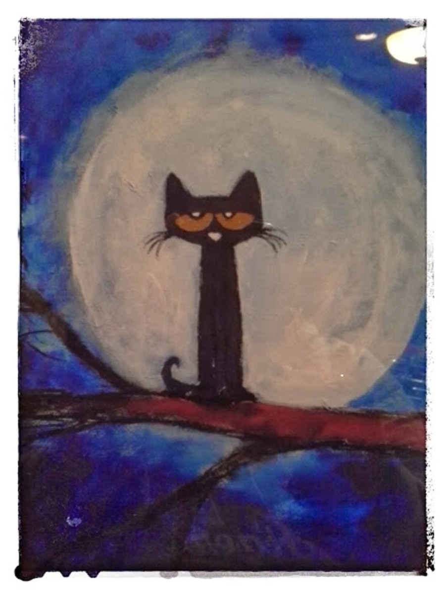 Luna is a print I purchased in September 2013. This is a photograph of the one hanging in my kitchen.