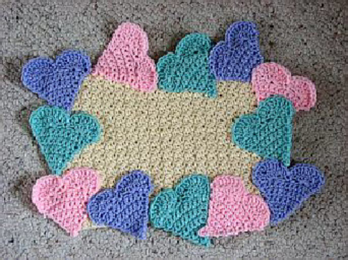 Candy Hearts Placemat