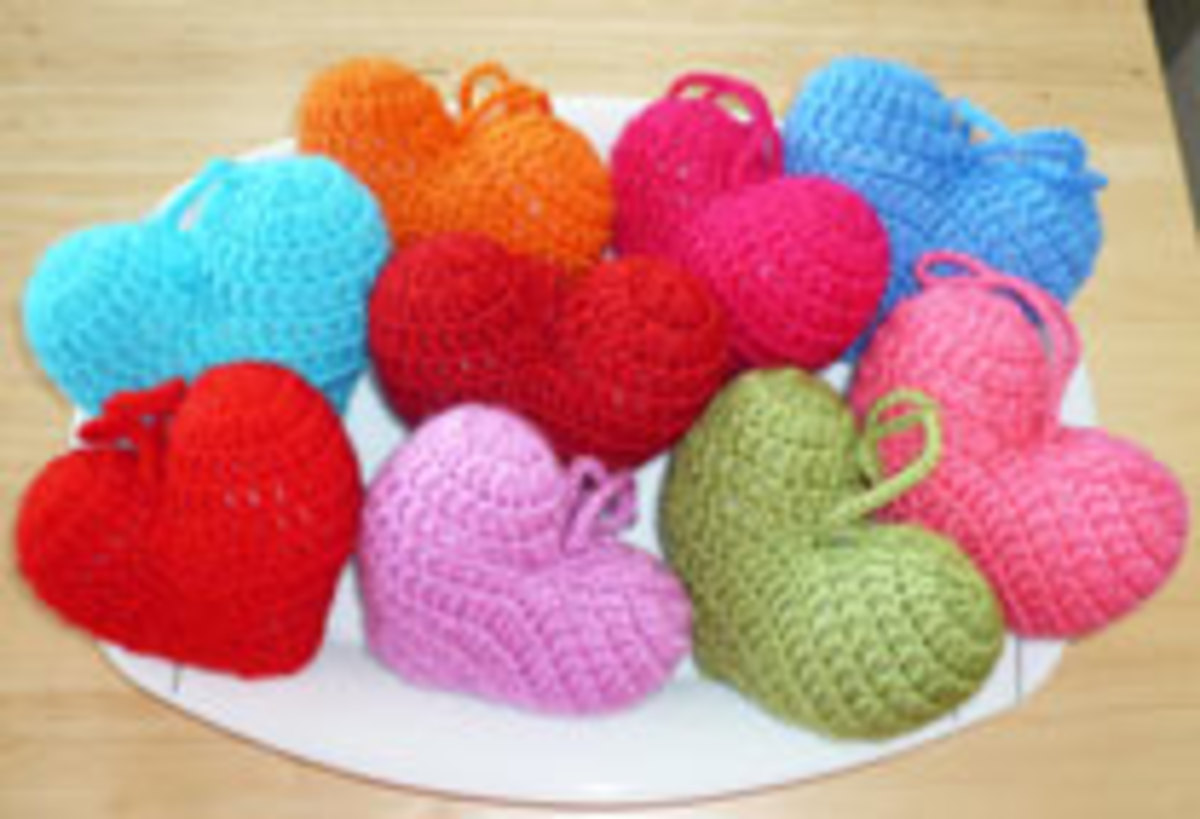 3D Stuffed Hearts