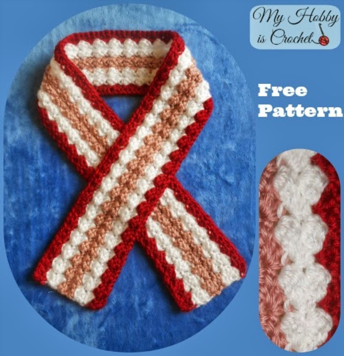 Crochet Scarf Valentine - Toddler to Adult