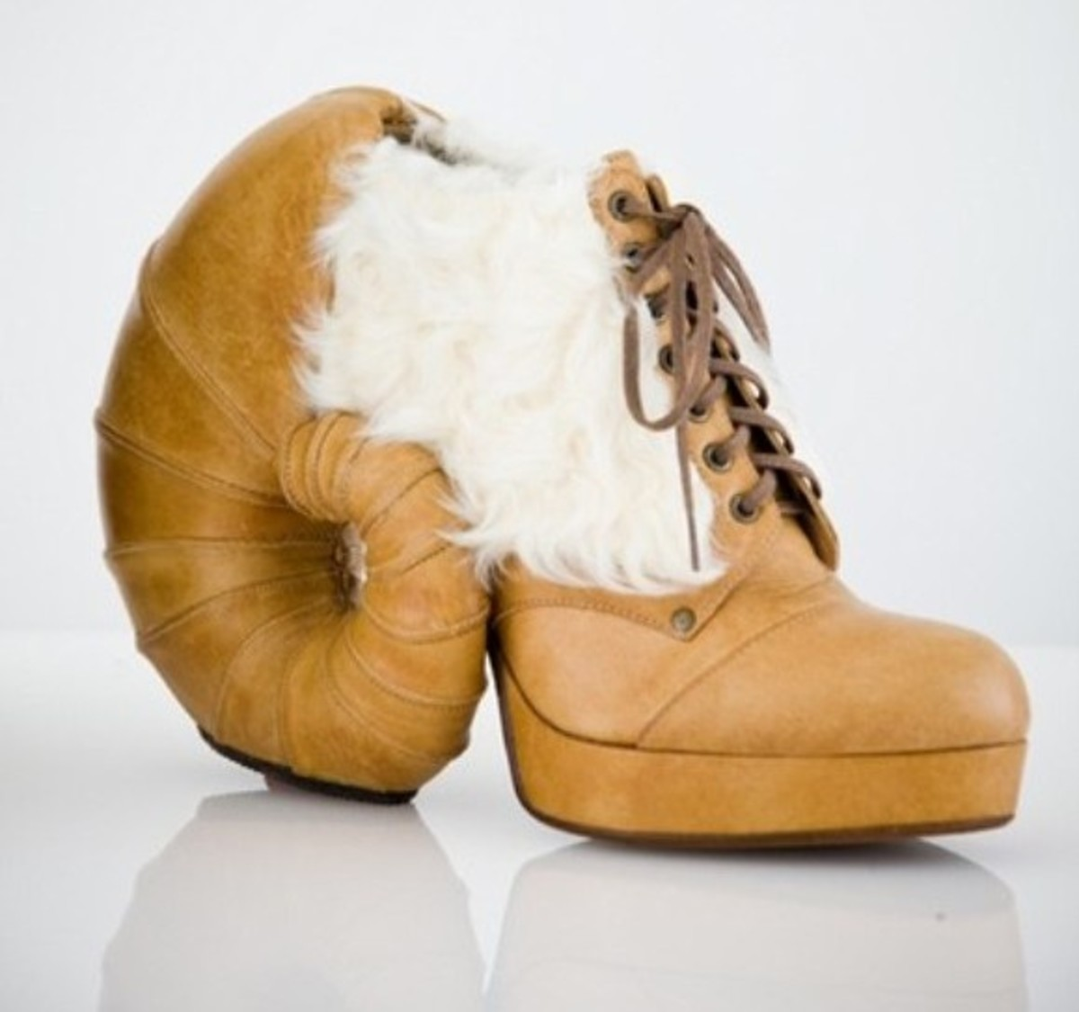 These shoes would look great with jeans and a matching taxidermied Ram Hat with eyes and flies.