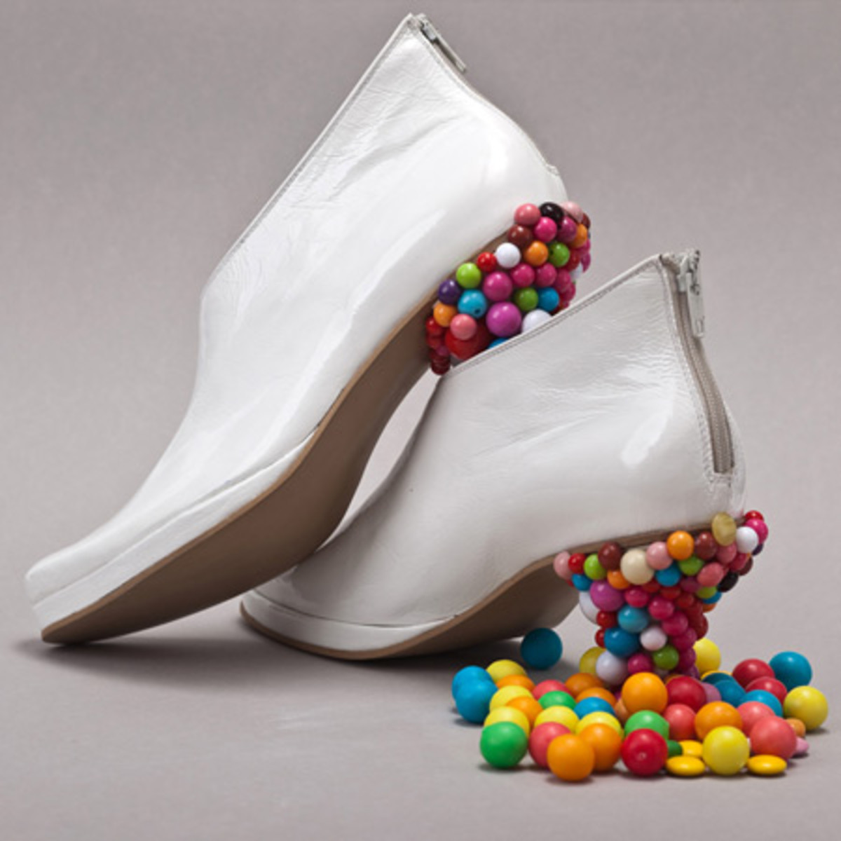 These shoes are a great way to get free candy – simply Superglue existing lollies and stand in a bowl of sweets at the next birthday party.
