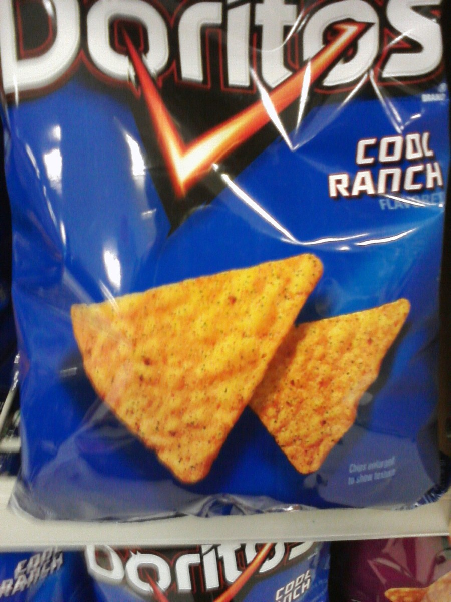 Doritos chips, example of junk food.