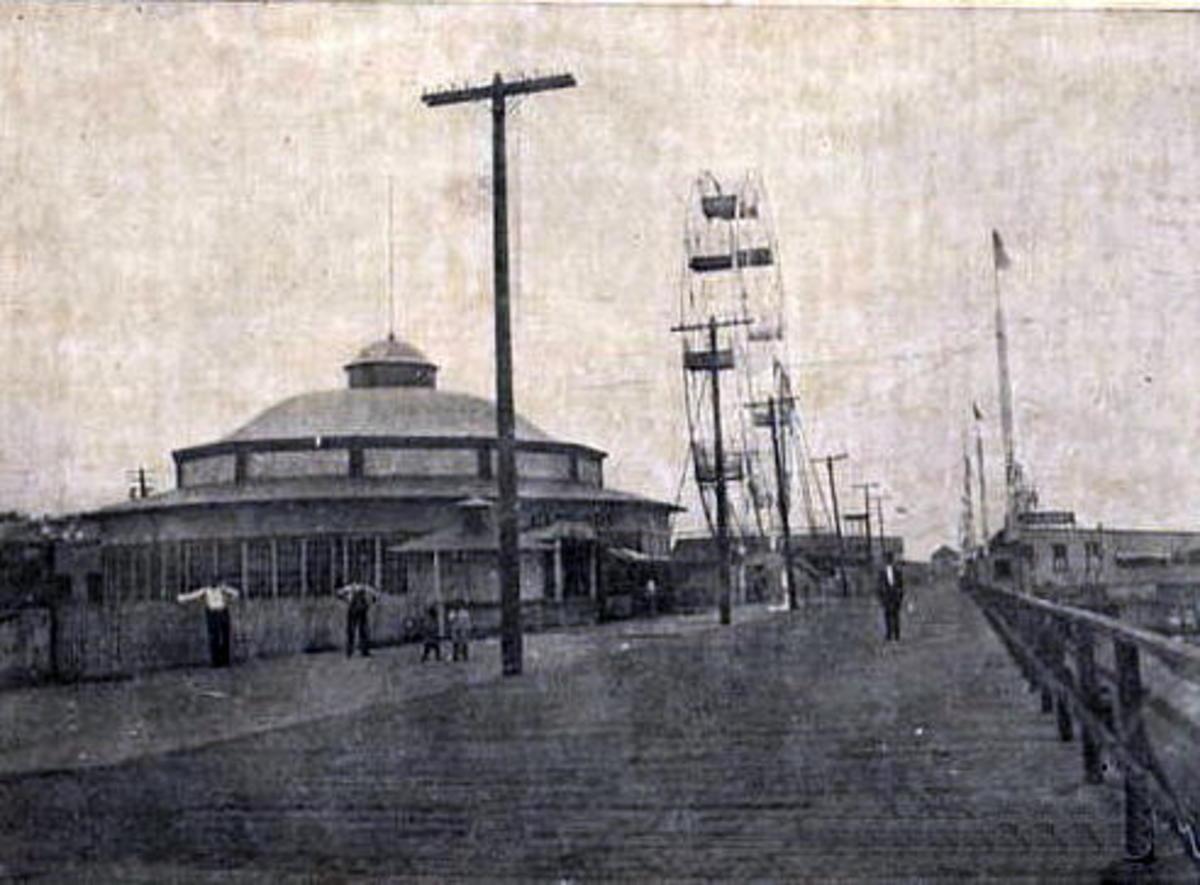 The amusement park at Bergan Beach