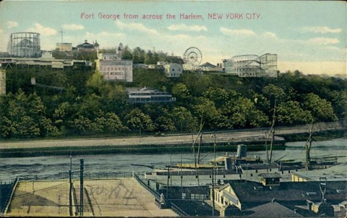 High above the Harlem River was Manhattan's Fort George amusement district.