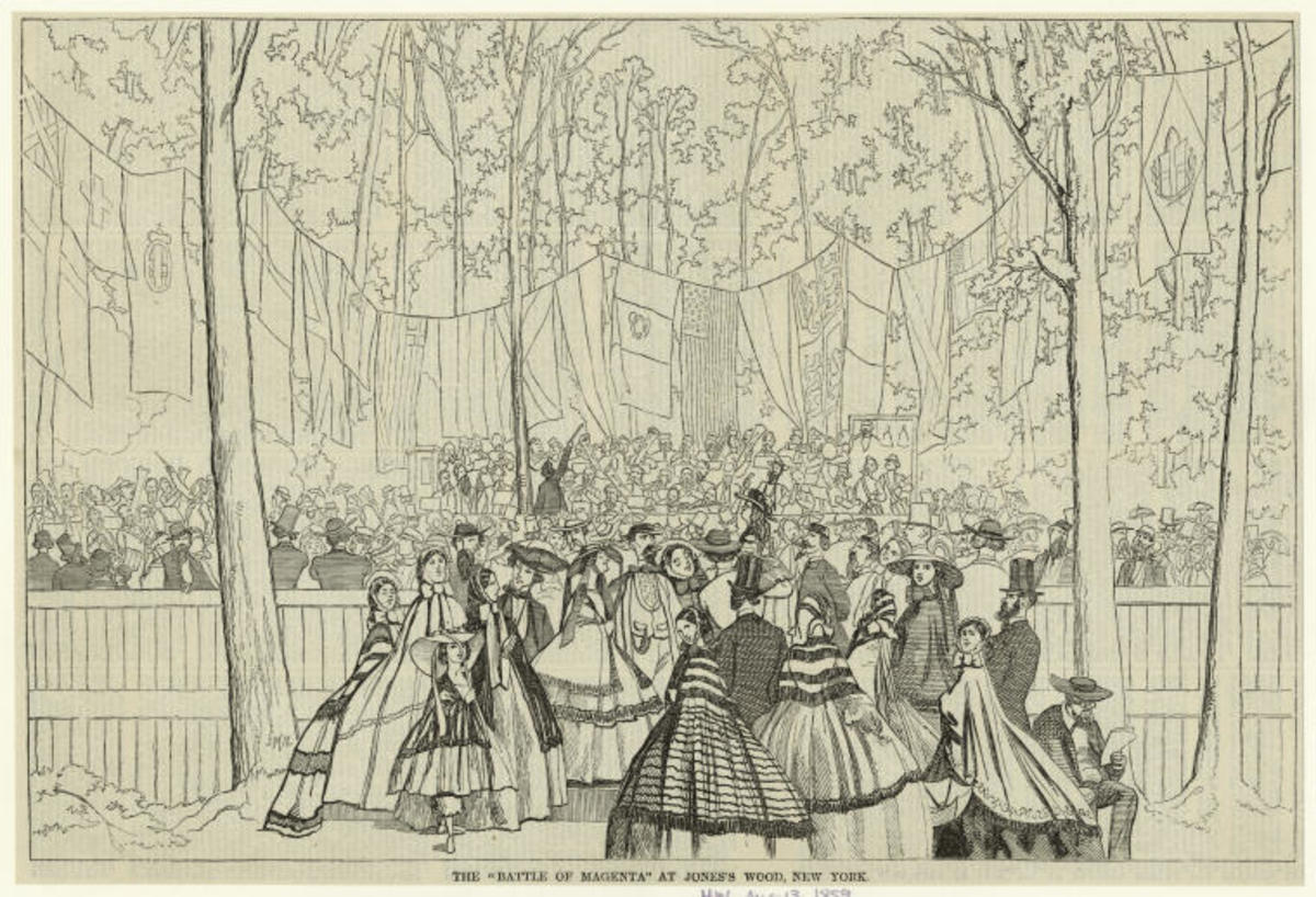 America's earliest amusement district was Jones's Wood in Manhattan, opening in the 1860s.