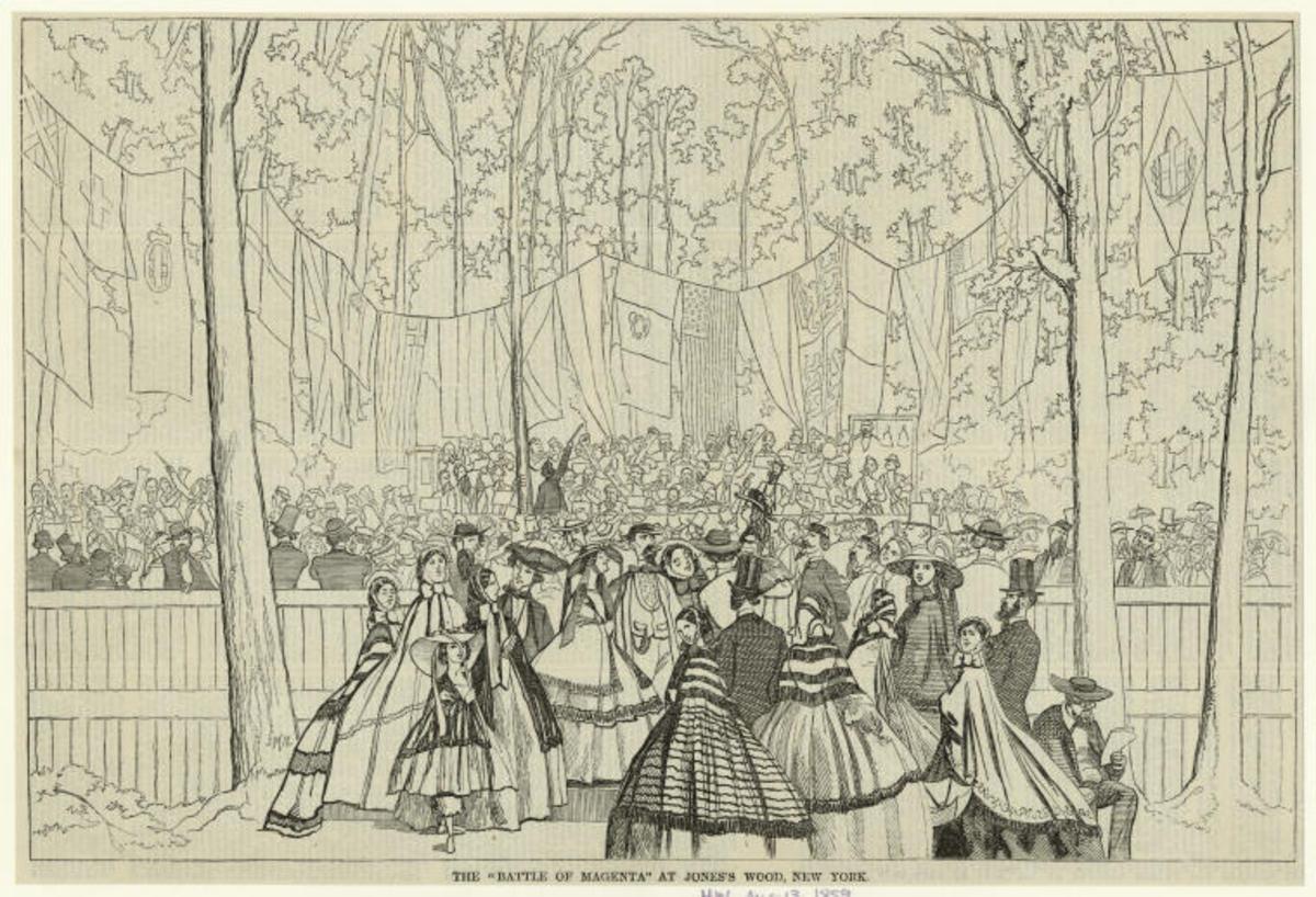 America's earliest amusement district was Jones's Wood in Manhattan, opening in the 1860s.